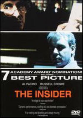 The Insider / Touchstone Pictures presents a Mann/Roth production ; a Forward Pass picture ; produced by Michael Mann, Pieter Jan Brugge ; written by Eric Roth & Michael Mann ; directed by Michael Mann.