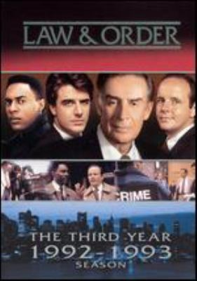 Law & order. The third year 1992-1993 season