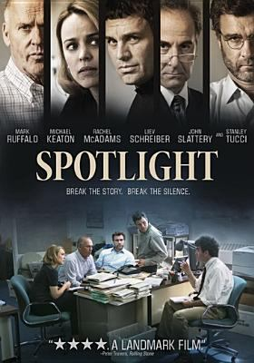 Spotlight / directed by Tom McCarthy ; written by Josh Singer & Tom McCarthy ; produced by Michael Sugar, Steve Golin ; produced by Nicole Rocklin, Blye Pagon Faust ; executive producers, Jeff Skoll, Jonathan King, Pierre Omidyar ; executive producers, Michael Bederman, Bard Dorros, Josh Singer ; executive producers, Tom Ortenberg, Peter Lawson, Xavier Marchand ; Open Road Films presents in association with Participant Media and First Look Media ; an Anonymous Content production ; a Rocklin/Faust production.