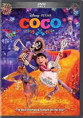 Coco / Disney presents a Pixar Animation Studios film ; original story by Lee Unkrich, Jason Katz, Matthew Aldrich, Adrian Molina ; screenplay by Adrian Molina, Matthew Aldrich ; produced by Darla K. Anderson ; co-directed by Adrian Molina ; directed by Lee Unkrich.