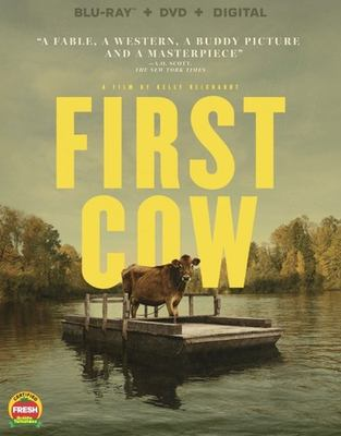 First cow / A24 and IAC Films present ; a Filmscience production ; produced by Neil Kopp, Vincent Savino, Anish Savjani ; screenplay, Jon Raymond & Kelly Reichardt ; directed by Kelly Reichardt.