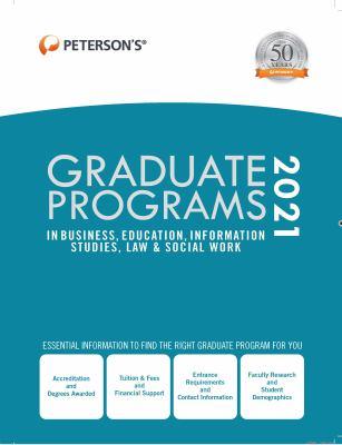 Peterson's graduate programs in business, education, information studies, law & social work.