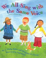 We all sing with the same voice Book cover