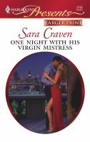 One night with his virgin mistress  Cover Image
