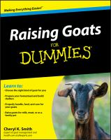 Raising goats for dummies Book cover