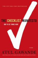 The checklist manifesto : how to get things right Book cover