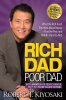 Rich Dad, Poor Dad : with updates for today's world and 9 new study session sections Book cover