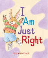 I am just right Book cover