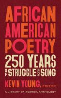 African American poetry : 250 years of struggle & song  Cover Image