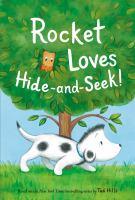 Rocket loves hide-and-seek! Book cover