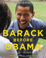 Barack before Obama : life before the presidency Book cover