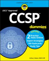 CCSP with online practice for dummies Book cover