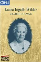 Laura Ingalls Wilder : prairie to page Book cover