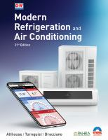 Modern refrigeration and air conditioning Book cover