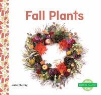 Fall plants Book cover
