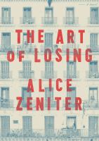 The art of losing Book cover