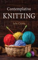 Contemplative knitting Book cover