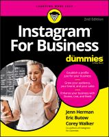 Instagram for business Book cover