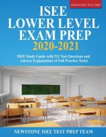 ISEE Lower Level exam prep 2020-2021 : ISEE study guide with 512 test questions and answer explanations (4 full practice tests) Book cover