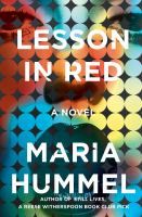 Lesson in red : a novel Book cover