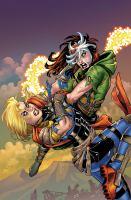 Captain Marvel vs. Rogue. Book cover