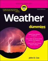 Weather for dummies Book cover