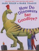 How do dinosaurs say goodbye? Book cover