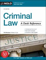 Criminal law : a desk reference Book cover